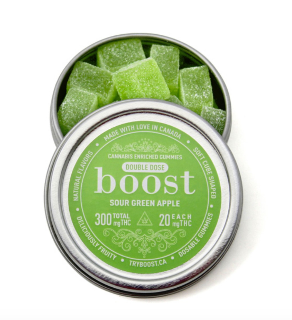 Boost Edibles – Sour Green Apple 300mg (Double Dose)