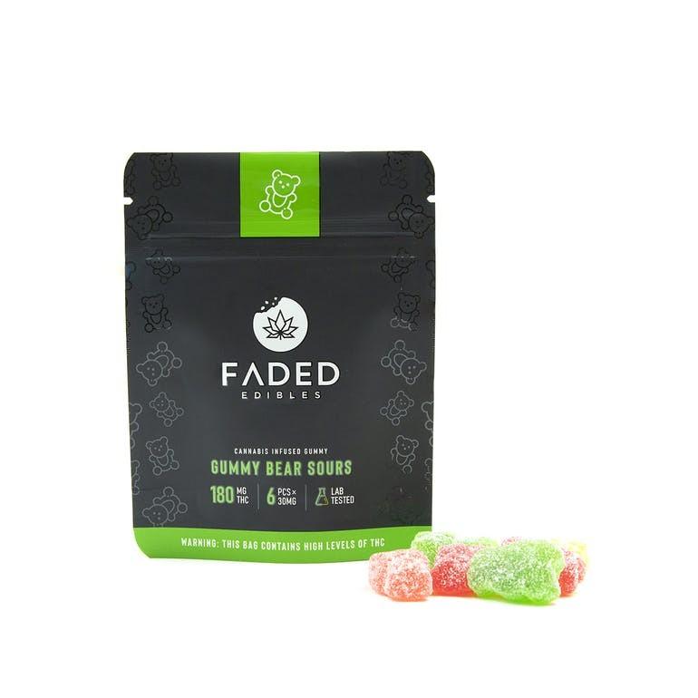Faded Cannabis Co Sour Gummy Bears
