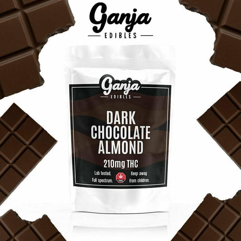 Ganja Baked Dark Chocolate Almond Bar – 1 x 210mg THC