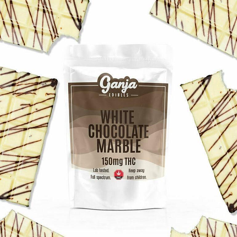 Ganja Baked White Chocolate Marble Bar – 1 x 150mg THC