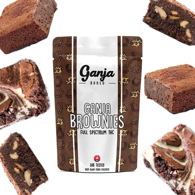 Ganja White Chocolate Chip Brownie – 1 x 400mg THC