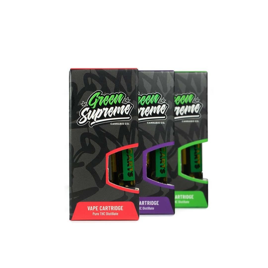 Green Supreme Vape Cartridges (Multiple Flavors)