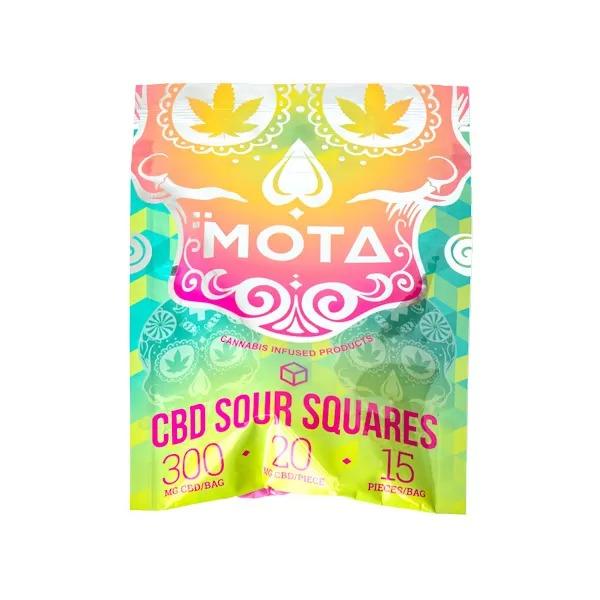 Nupepshrooms,Mota,CBD,Sour,Squares,300mg,Mushrooms