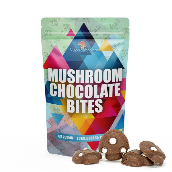 Nupepshrooms,Infused,Chocolate Bites,Mushrooms