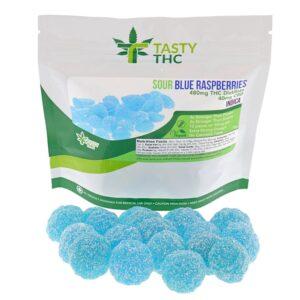 Sour Blue Raspberry (480mg THC/40mg CBD)