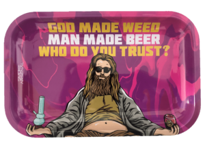 Blazing Jesus Metal Rolling Tray