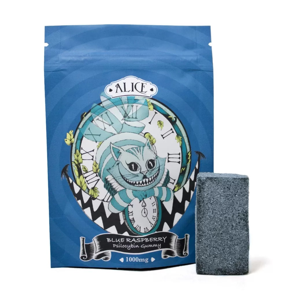 Alice – Blue Raspberry Mushroom Gummy