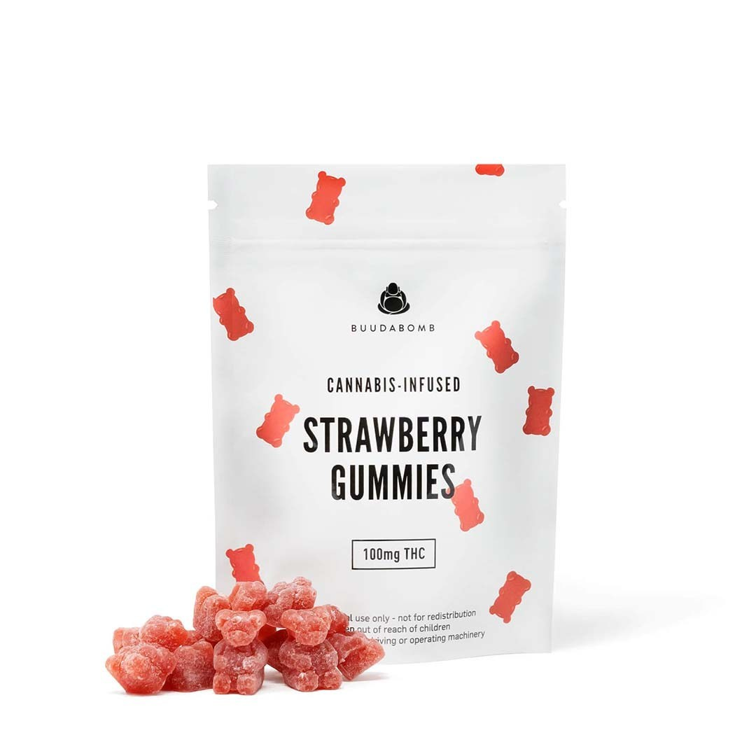 Buudabomb – Strawberry Gummies 100mg